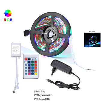10m 5m Waterproof 2835SMD LED Flexible light strips RGB Warm White Red Blue Green 12v DC One set with Adapter Controller for par image