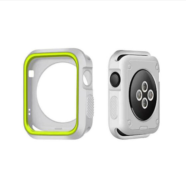 Watch Cover for Apple Watch Series 4 44mm 40mm Case for iWatch 1/2/3 42mm 38mm Watch Accessories Soft silicone protective shell | Fotoflaco.net