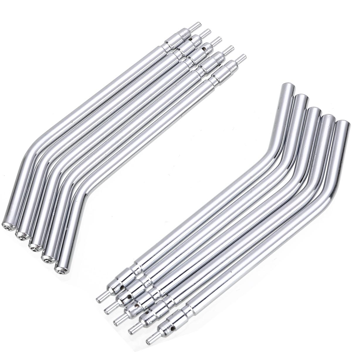 10Pcs Stainless Steel Dental Syringe Tips 3 Way Dental Air Water Syringe Spray Nozzles Tips Tube For Teeth Whitening