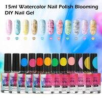 12 Colors/set 15ml Watercolor Nail Polish Blooming DIY Nail Gel Smoke Effect Bubble Varnish Manicure Decor Salon Set Accessories