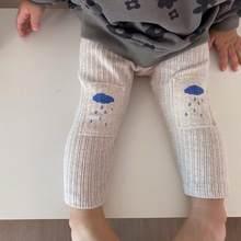 Pantalon de printemps pour bébés, Patch aux genoux, Leggings pour filles et garçons, Long côtelé, élastique, nouvelle collection 2021