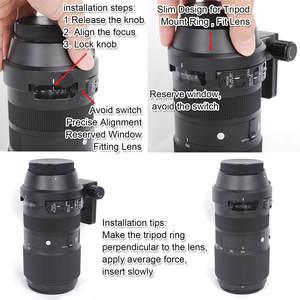 Image 3 - レンズ襟三脚マウントリングとアルカスイス型用シグマ 100 〜 400 ミリメートル f/ 5 6.3 dg OS HSM 現代