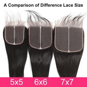 Image 5 - גבריאל שיער ברזילאי ישר 7x7 סגירת שיער טבעי תחרה סגר עם תינוק שיער שוויצרי תחרה 8 22 צבע טבעי רמי שיער