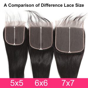 Image 5 - Gabrielle Hair Brazilian Straight 7x7 Closure Human Hair Lace Closure with Baby Hair Swiss Lace 8 22 Natural Color Remy Hair