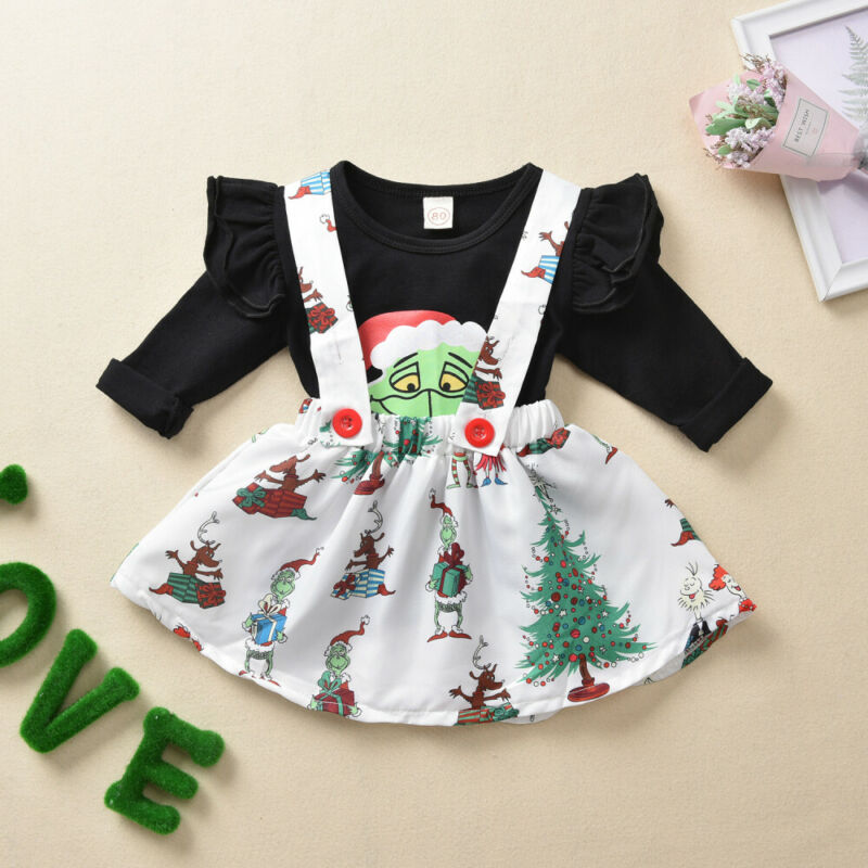 Baby Girl Clothes Toddler Kids Long Sleeve Party Dress Tutu Clothing T-shirt Top