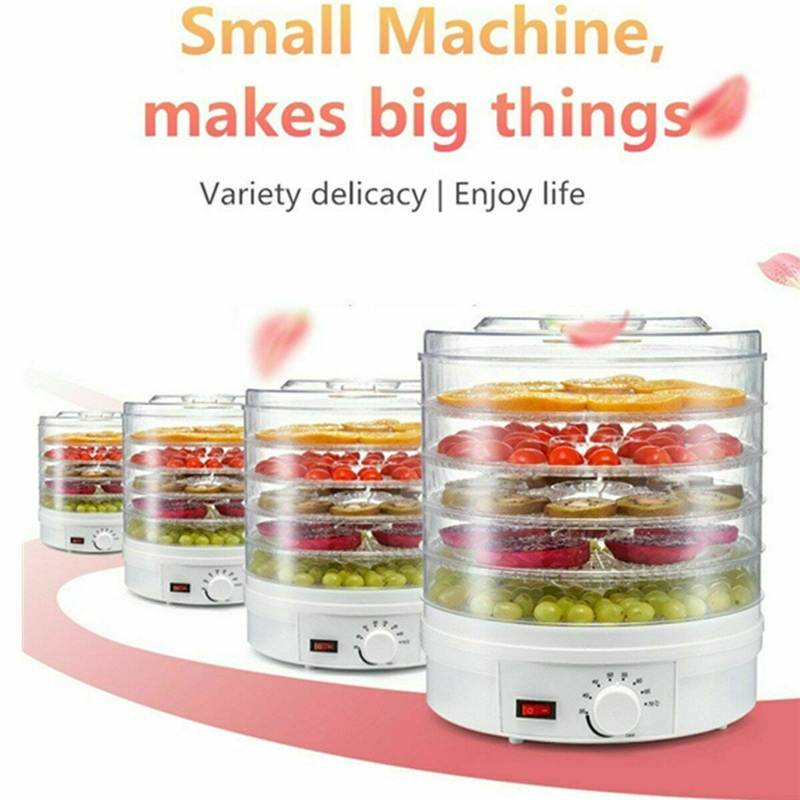 28CM 32CM 350W 5 Tier Electric Food Dehydrator Machine Fruit Beef Jerky Herbs Pet Food Dry Machine