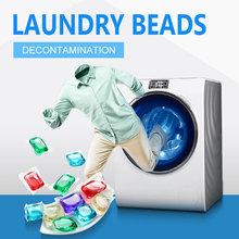 (1PC = 60g płyn do prania) żel do prania koraliki kulki kule do prania Cleaner kapsułki płyn do prania trwały zapach płyn do prania tanie tanio CN (pochodzenie) Laundry Ball Czyszczenie Support phosphorus-free concentrated