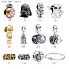 HOT SALE 100% Sterling Silver 925 StarWars Series S1-S12 Charms Fit Original Pandora Bracelet For Women Jewelry Gift