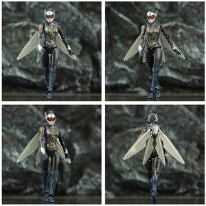 "Image 4 - ハチ 6 ""アクションフィギュアantman 2 アリ男と継続を女性ナディアkoのshf endgame伝説復讐おもちゃ人形"