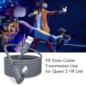 Image 4 - 5M קו נתונים עבור צוהר Quest 2 קישור אוזניות USB 3.0 סוג C נתונים טעינת כבל העברת סוג C כדי USB A כבל VR אבזרים