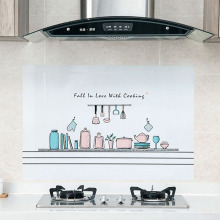 Cozy Kitchen Stickers Anti-oil PET Wall Decals for Cabinet Stove Waterproof Kitchen Sticker Home Decoration Mural Cute Wallpaper