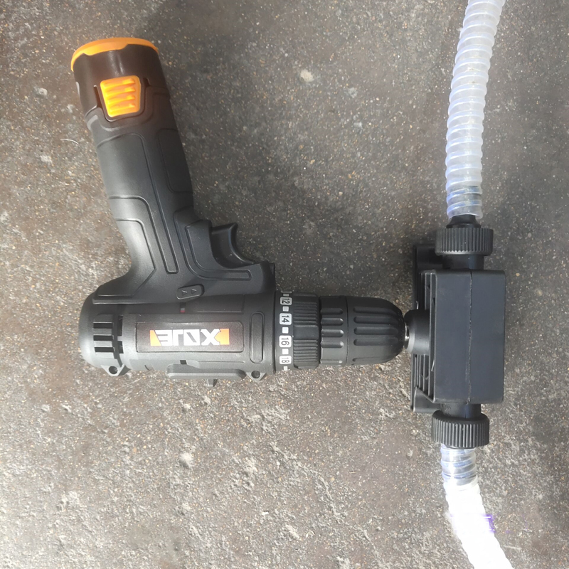 Portable Electric Drill Pump Self Priming Transfer Pump Drill Accessory Drill Powered Pumps Oil Fluid Water Pump Outdoor Pumping