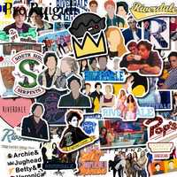 50pcs Riverdale Stickers paster Cartoon characters anime movie funny decals scrapbooking diy phone laptop waterproof decorations