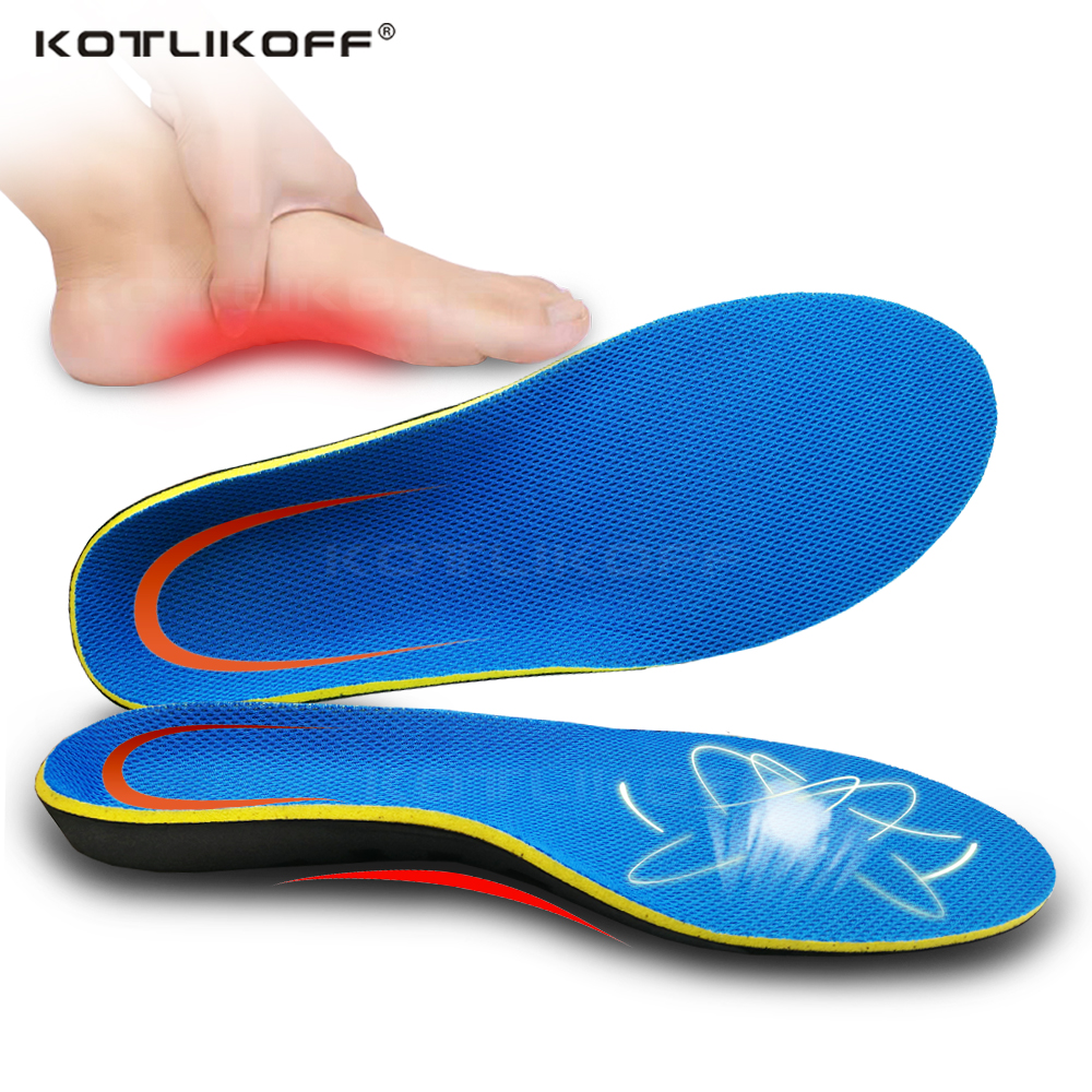 KOTLIKOFF Sole Flat Feet Orthotic Insoles Arch Support Orthopedic Inserts Plantar Fasciitis,Feet Pain,Pronation For Men Women