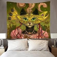 Mrs. Cat женский декор для вечеринок художественная стена хиппи искусство забавные настенные Висячие