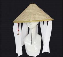 Naruto Cosplay Akatsuki Organisation Chapeau En Bambou Coolie Chapeau paille chapeaux cône Bambou soleil Chapeau portant une cloche A1044