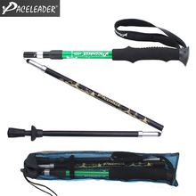 Aluminum Alloy Folding Cane Walking Sticks Trekking Poles Hiking Trekking Trail Ultralight 3-section Adjustable Canes цена