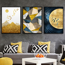 Decoration Nordic Mural Canvas Painting Contemporary-Art Abstract Landscape Living-Room