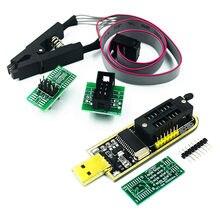 SOIC8 SOP8 тестовый зажим для EEPROM 93CXX/25CXX/24CXX + CH341 24 25 серия EEPROM Flash BIOS USB программатор модуль