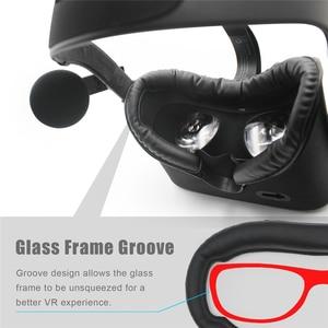 Image 4 - Protection de mousse de fond de masque doeil en cuir dunité centrale pour Oculus Rift VR casque masque doeil accessoires de soutien de nez de soutien inférieur pour Oculus Rift