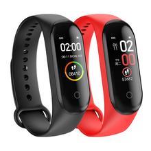 M4 inteligentna opaska krokomierz nadgarstek bransoletka sportowa inteligentny zegarek Fitness Smart Watch tętna Monitor ciśnienia krwi Smartband tanie tanio centechia Zgodna ze wszystkimi SİLİCA Rejestrator aktywności fizycznej Rejestrator snu Wiadomości z przypomnieniami