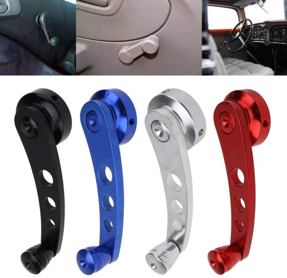 2Pcs Aluminum Alloy Universal Car Window Handle Winder Riser Replacement 4 Color Winder Crank Riser Kit Universal Fit Promotion