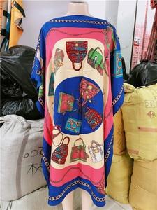 Image 2 - 着丈: 100 センチメートルバスト: 140 センチメートルアフリカ dashiki 新ファッションデザインショートドレス特大プラス有名なブランドのための女性/女性