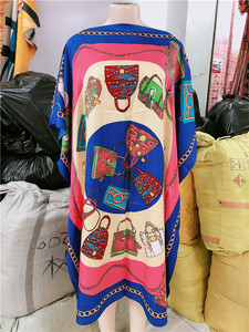 Image 2 - Dress Length:100cm Bust:140cm  African Dashiki New Fashion Design short dress oversized Plus Famous Brand Loose For Lady/women