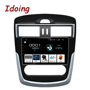 """Idoing 9""""Car Radio Multimedia NO 2 din DVD Video Player Navigation GPS Android auto 4G For Nissan Serena tiida 2016 4G+64G"""