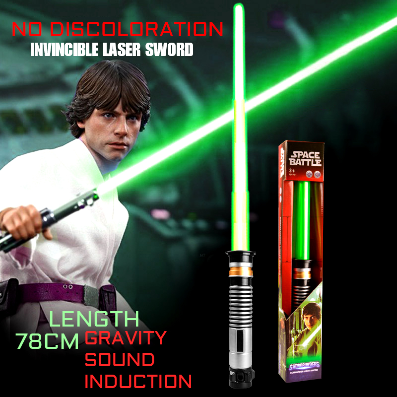 Lightsaber Toys For Children Saber Luminous Plastic RGB Sword Cosplay Light Outdoor Wars Stick Sword Weapon Prop Toys For Kids