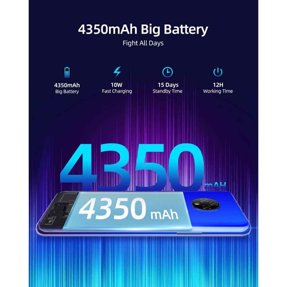"""DOOGEE X95 telefon komórkowy Android 10 OS 4G-LTE telefony komórkowe 6.52 """"MTK6737 16GB ROM Dual SIM 13MP potrójny aparat 4350mAh smartfony"""