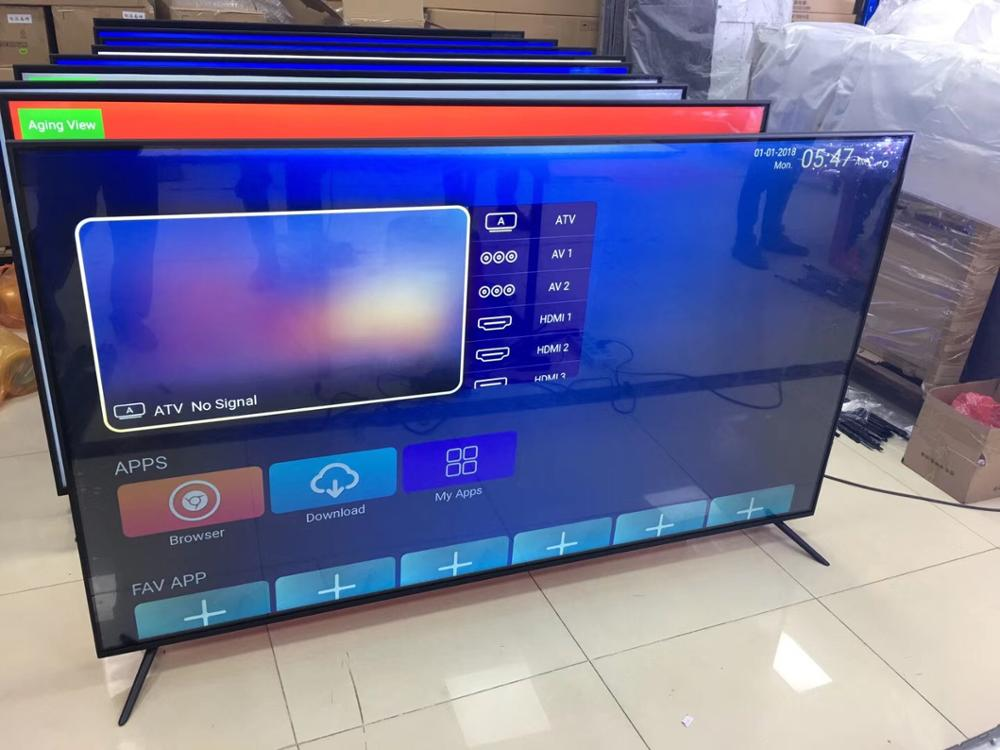 China Factory Cheap Flat Screen Televisions 75 Inch Multiple Language Wifi Smart Tv Android Lcd Led Tv 4k Television Smart Tv Aliexpress