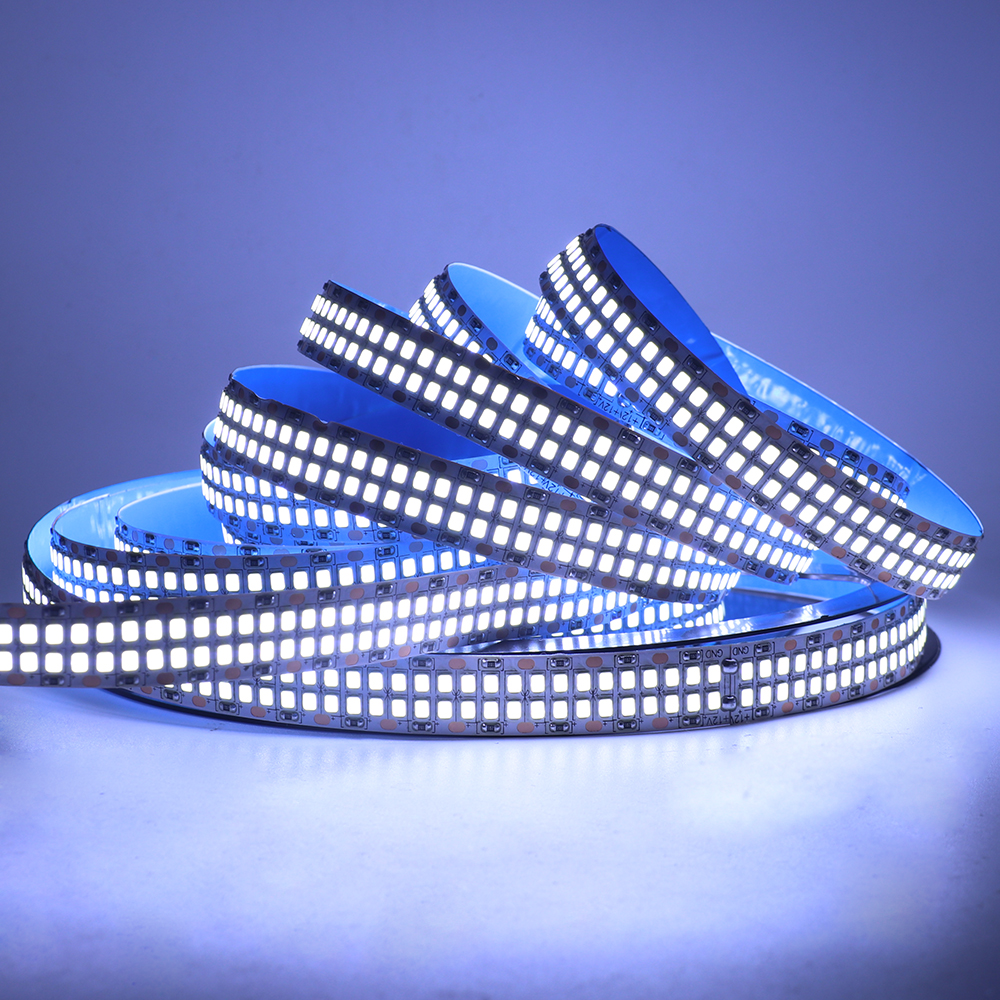 5M SMD2835 LED Strip Light 12V 24V 480LEDs/M Flexible LED Tape Waterproof LED Ribbon Rope Double Row LED Light Strip Decoration