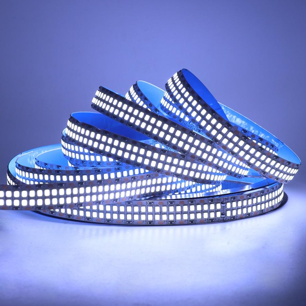 5M SMD2835 LED Strip Light 12V 24V 480LEDs/M Flexible LED Tape Waterproof LED Ribbon Rope Double Row LED Light Strip Decoration