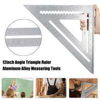12 polegada liga de alumínio ângulo direito triângulo régua transferidor enquadramento madeira velocidade ângulo quadrado ferramentas medição
