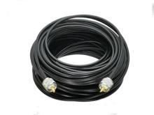 Tomada masculina da frequência ultraelevada pl259 do cabo rg58 à tomada masculina da frequência ultraelevada pl259 em linha reta 6 polegadas 50 50 m