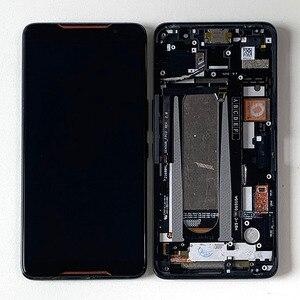 "Image 5 - 6.0 ""מקורי Supor AMOLED M & סן עבור ASUS ROG טלפון ZS600KL LCD תצוגת מסך + מגע פנל Digitizer עבור Asus ZS600KL מסגרת"