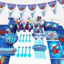 83 pçs dos desenhos animados spiderman tema crianças menino aniversário decoração festa de chuveiro do bebê evento suprimentos favor itens para crianças 10 pessoas uso