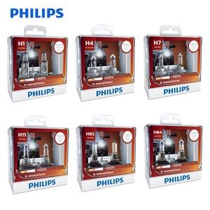 Philips X-treme Vision H1 H4 H7 H11 9003 9005 9006 HB2 HB3 HB4 XV 12V +100% More Bright Light Car Halogen Headlight Lamp , X2