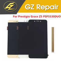 5.3 Inch For Prestigio Grace Z5 PSP5530DUO LCD Display With Touch Screen Glass Sensor Digitizer White Black Gold Color With Tape|Mobile Phone LCD Screens| |  -