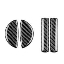 4 шт. для Mini Cooper F55 F54 F60 интерьер автомобиля углеродного волокна дверные ручки крышки отделка