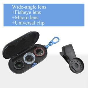 Image 4 - ユニバーサル電話レンズ高精細思鋭外部携帯レンズマクロ肖像ミラーセットのための広角魚眼レンズiphone