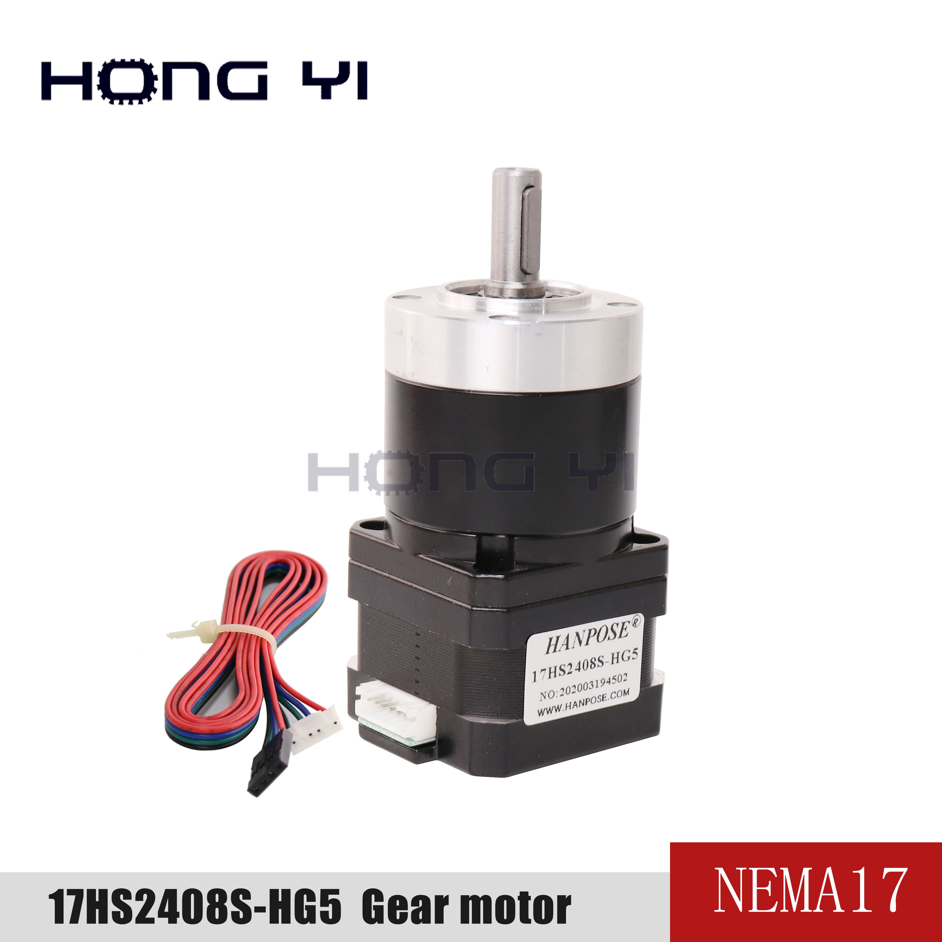 17hs2408-HG high precision decelerating motor transmission ratio 5:1 10:1 planetary decelerating stepping motor <font><b>nema17</b></font> motor 3D image