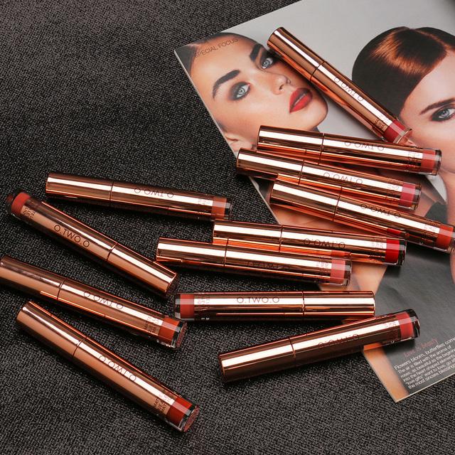 Matte Lipstick Liquid Waterproof Long Lasting Velvet Lip Gloss Makeup Smooth Pigment Lip Tint Red Lips Cosmetics