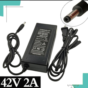 Image 1 - 36V 배터리 충전기 42V 출력 2 ~ 100 240V 입력 10 시리즈 36V 전기 자전거 배터리 충전기 EU / US DC 플러그. 미국/UA/