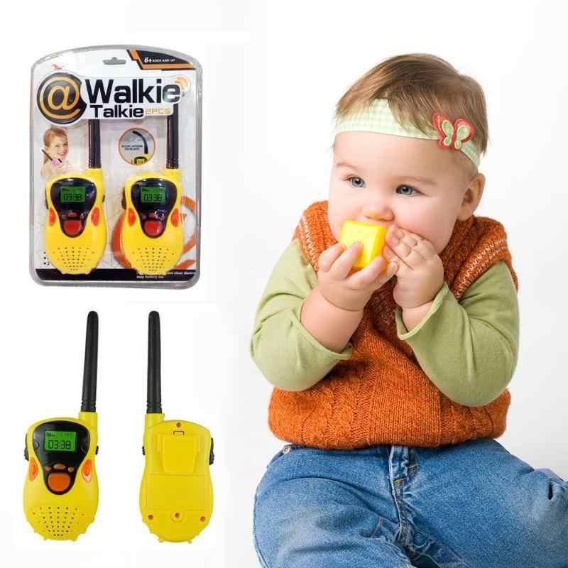 2pcs Handheld Draadloze Intercom Telefoon Comfortabel Handvat Functie met Zaklamp Lcd-scherm Elektronische Kinderen Kids Geschenken