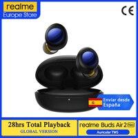 realme Buds Air 2 Neo, Versión global, Auriculares inalámbricos Bluetooth, TWS, Cancelación activa del ruido, 28 horas de reproducción total, Ruido desactivado;