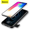 Baseus Tragbare 8000mAh QI Drahtlose Ladegerät Power Bank Für iPhone XS LCD Drahtlose Aufladen Power Für Samsung S10 Xiaomi mi 9