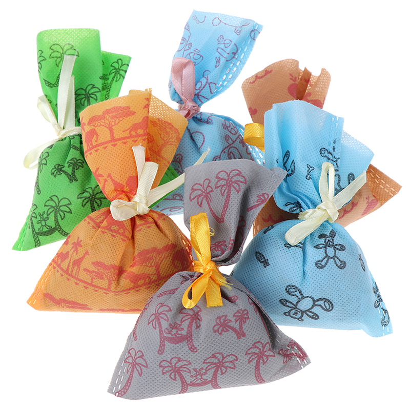 1 PCS Natural Bamboo Charcoal Bag For Fridge Car Room Wardrobe Smell Remove Deodorant Air Freshener Bag
