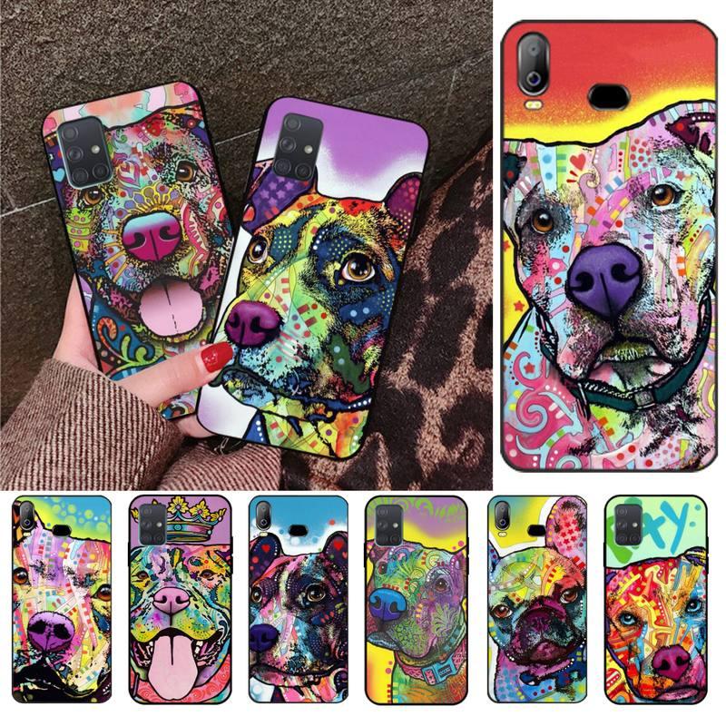 Cute Pitbull Dogs Pop Art Phone Case For Samsung Galaxy A21S A01 A11 A31 A81 A10 A20E A30 A40 A50 A70 A80 A71 A51
